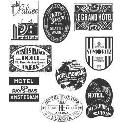 Sello Caucho - Tim Holtz Travel Labels